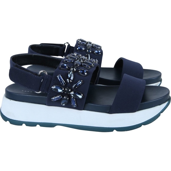 Zara Navy Sporty Embellished Sneaker